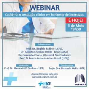 Evento: Webinar - Covid 19: A condução clínica em horizonte de incertezas - 05/05/2020
