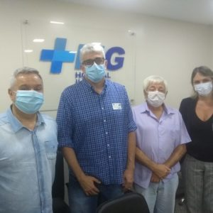 Presidentes da Unimed Rio e da Somei visitam o Hospital Ilha do Governador